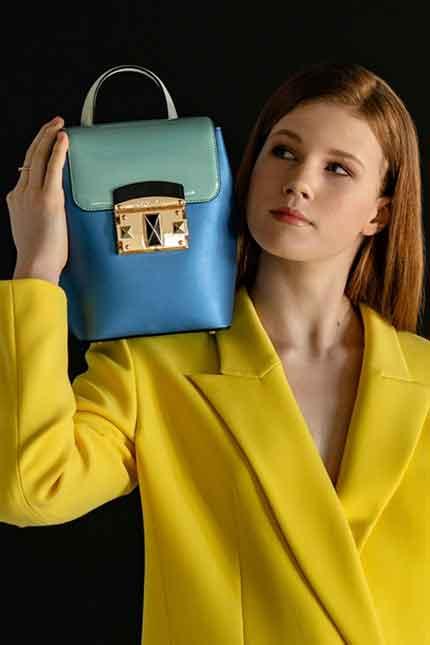 Дизайнерский кожаный рюкзак Cromia 1404522 zaffiro из коллекции весна-лето 2020 года купить в Интернет-магазине Cromia-shop.ru