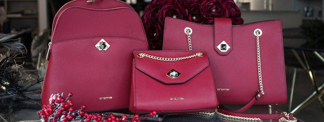 Благородная палитра бордо в женских кожаных сумках Cromia