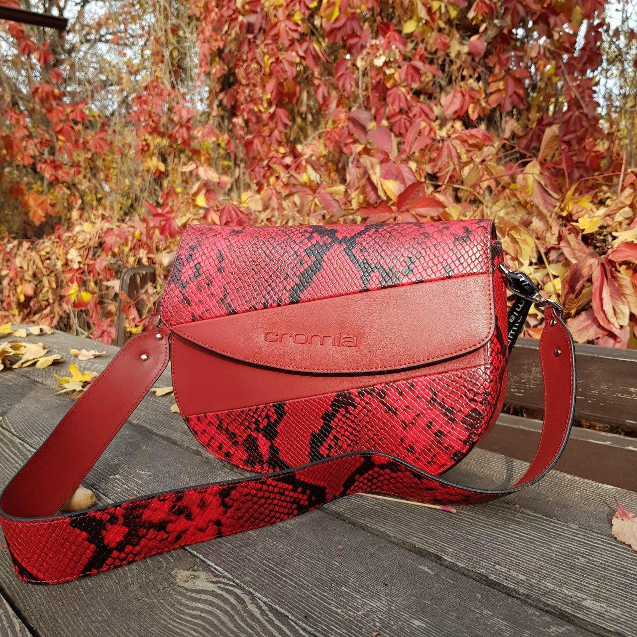 Женская кожаная сумка Cromia 1404674 BORDEAUX из натуральной кожи