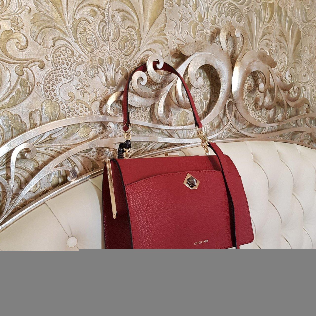 Женская кожаная сумка Cromia 1404679 BORDEAUX из натуральной кожи