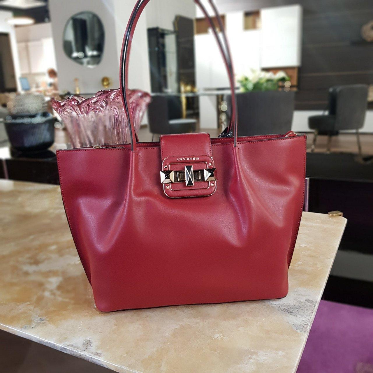 Женская кожаная сумка Cromia 1404718 BORDEAUX из натуральной кожи