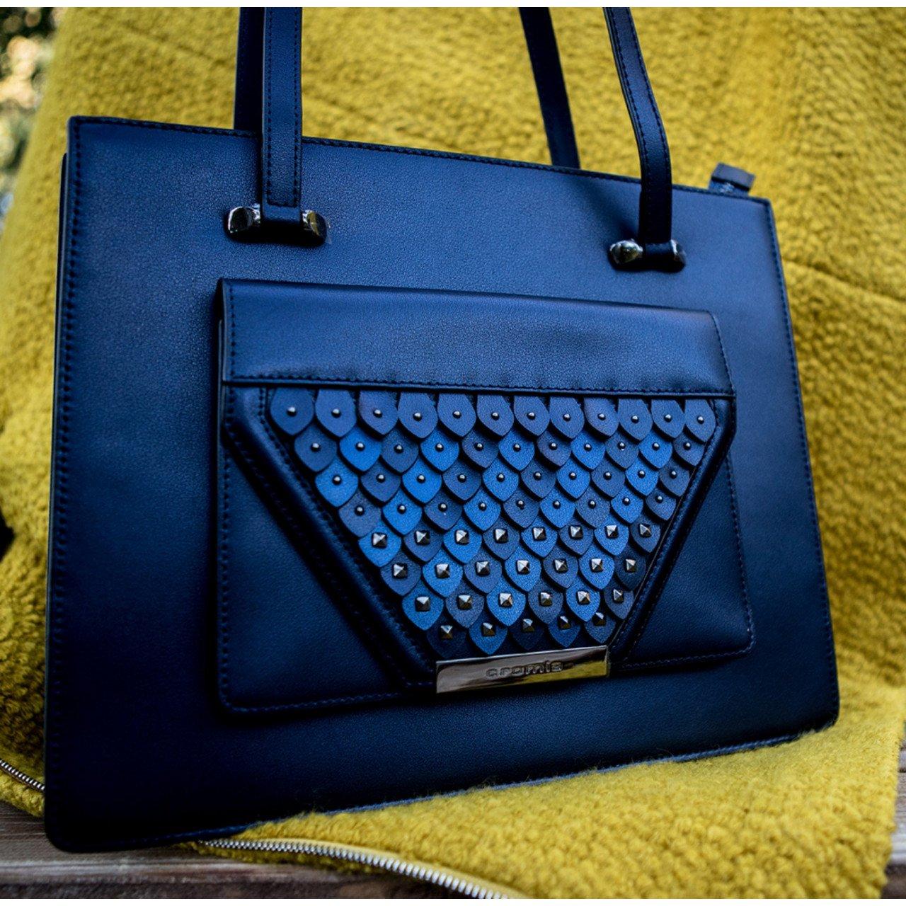Женская кожаная сумка Cromia 1404728 BLU из натуральной кожи
