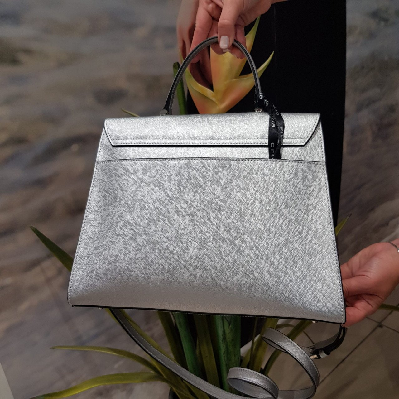 Женская кожаная сумка Cromia 1404477 ARGENTO