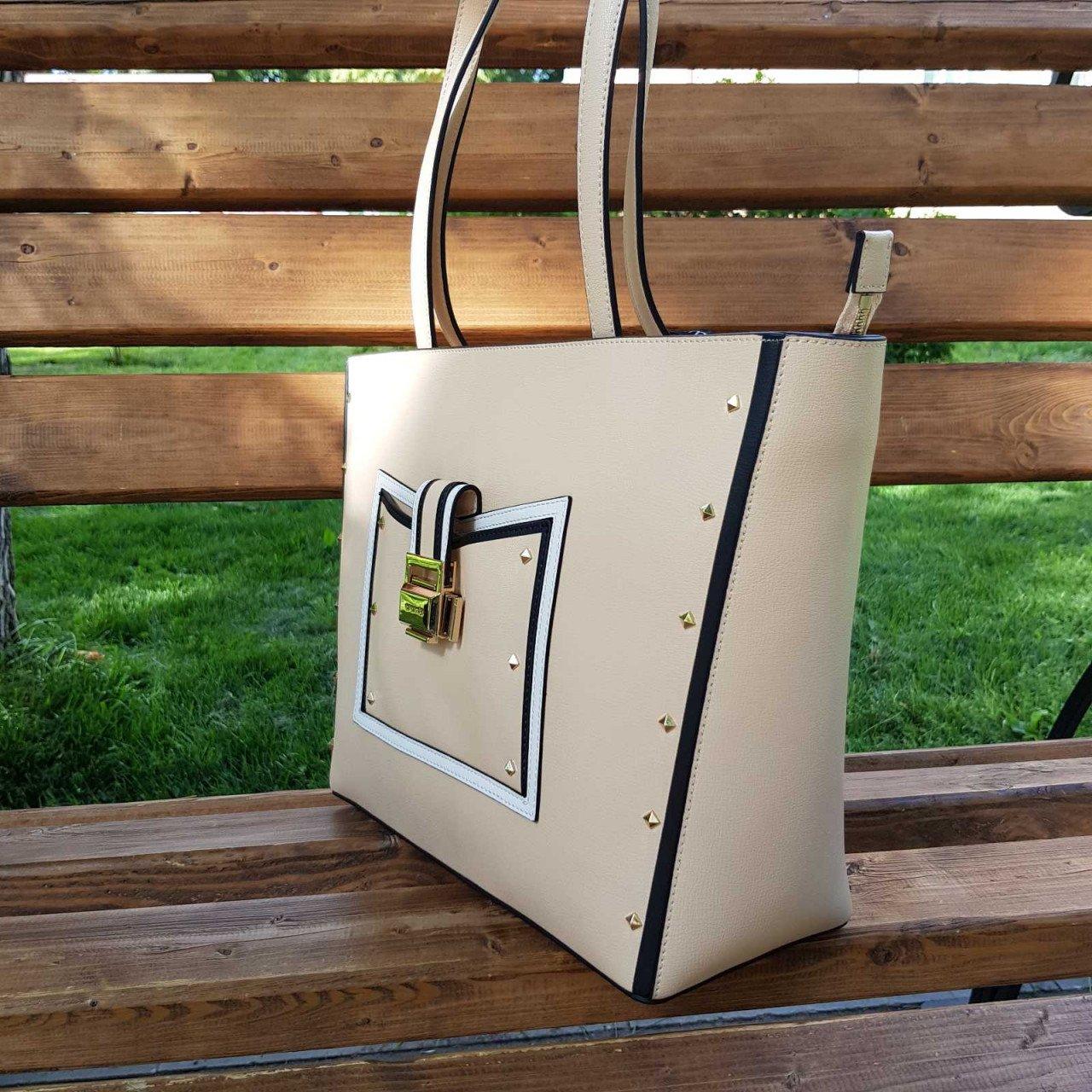 Женская кожаная сумка Cromia 1404540 NUDE