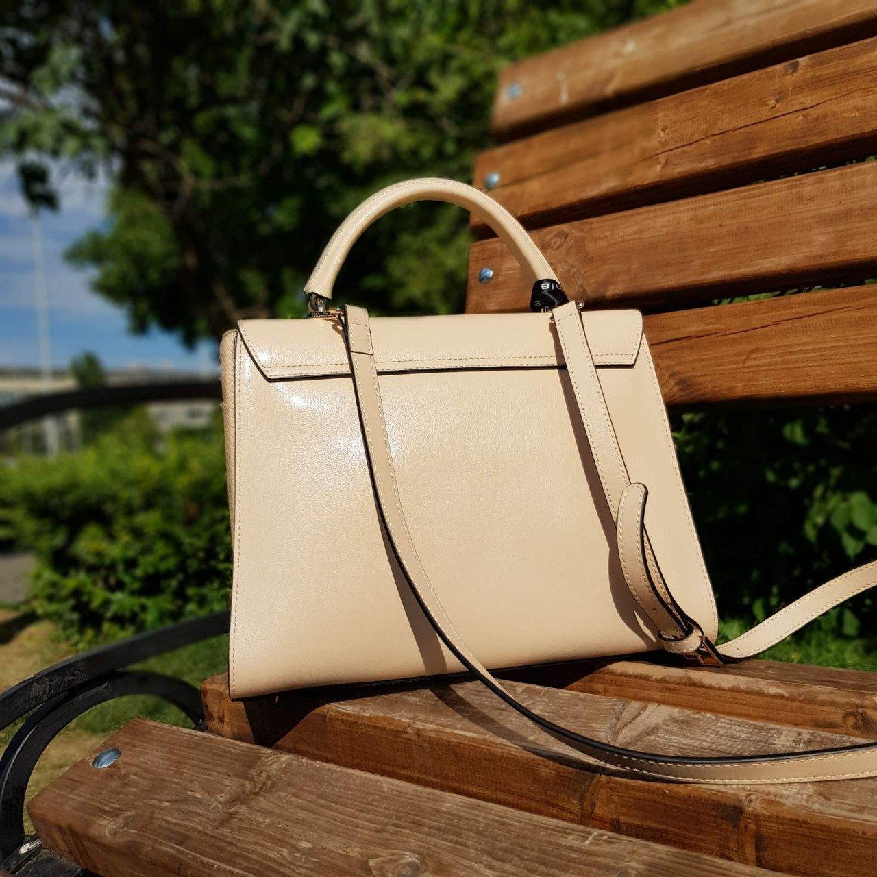 Женская кожаная сумка Cromia 1404559 NUDE