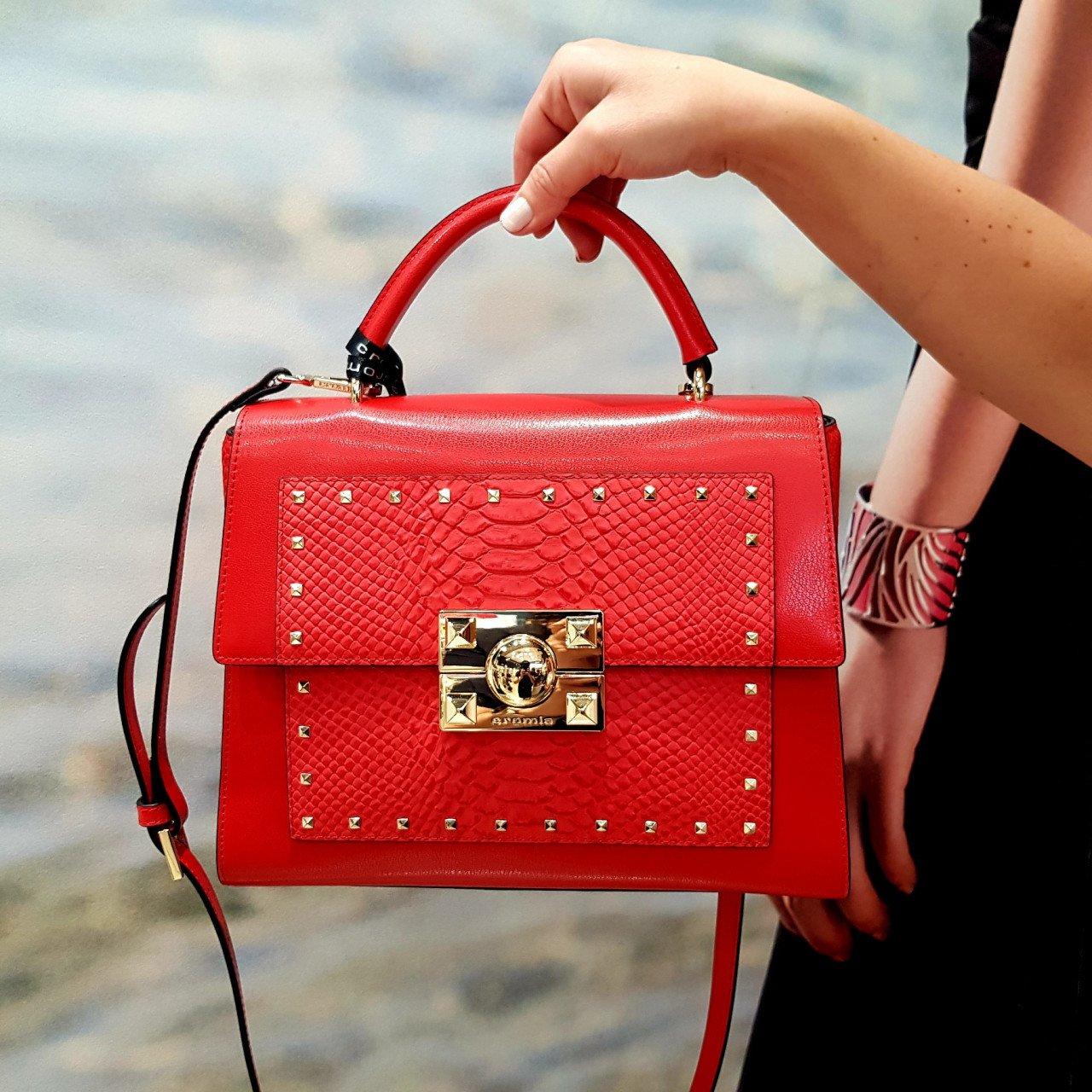 Женская кожаная сумка Cromia 1404559 ROSSO