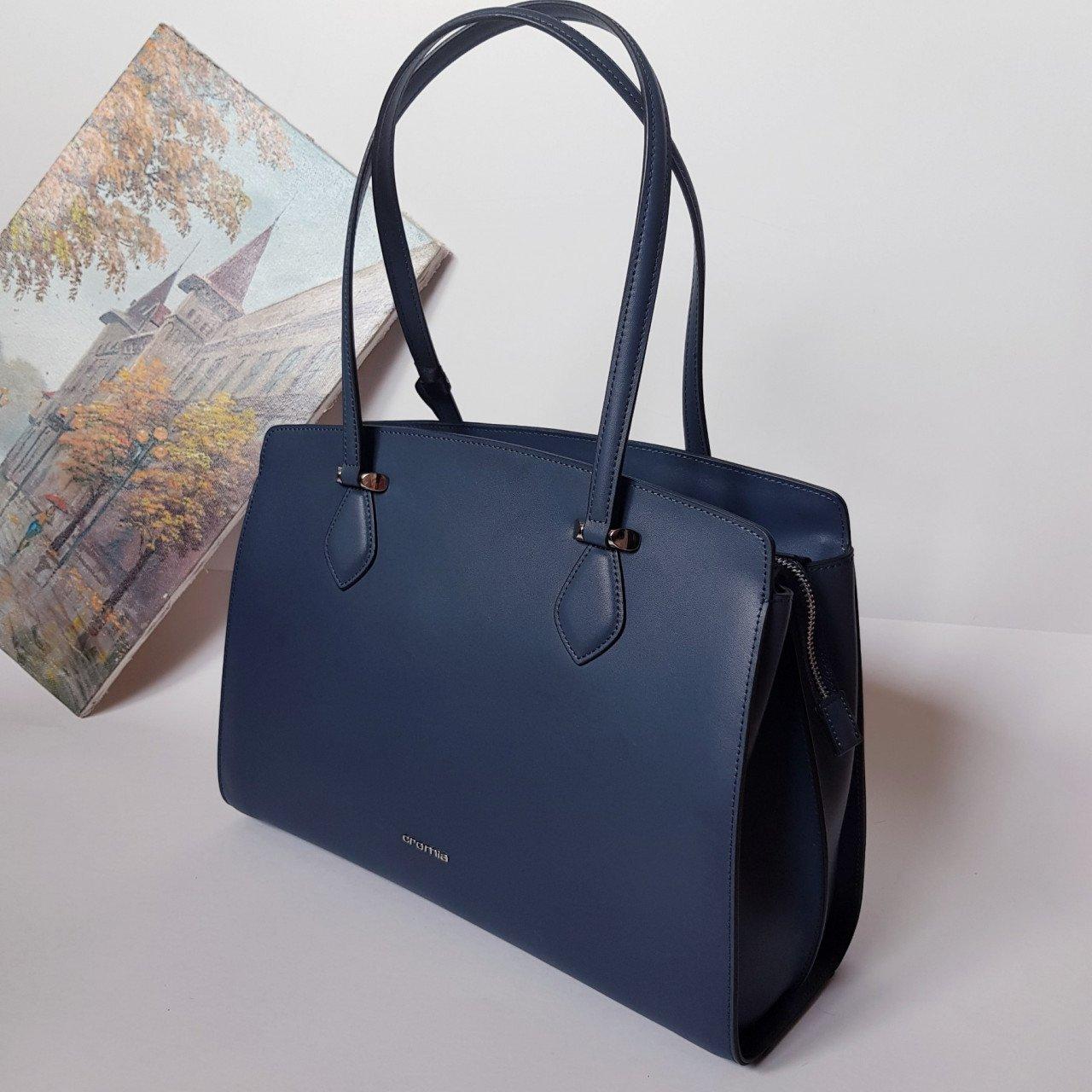 Женская кожаная сумка Cromia 1404824 BLU из натуральной кожи