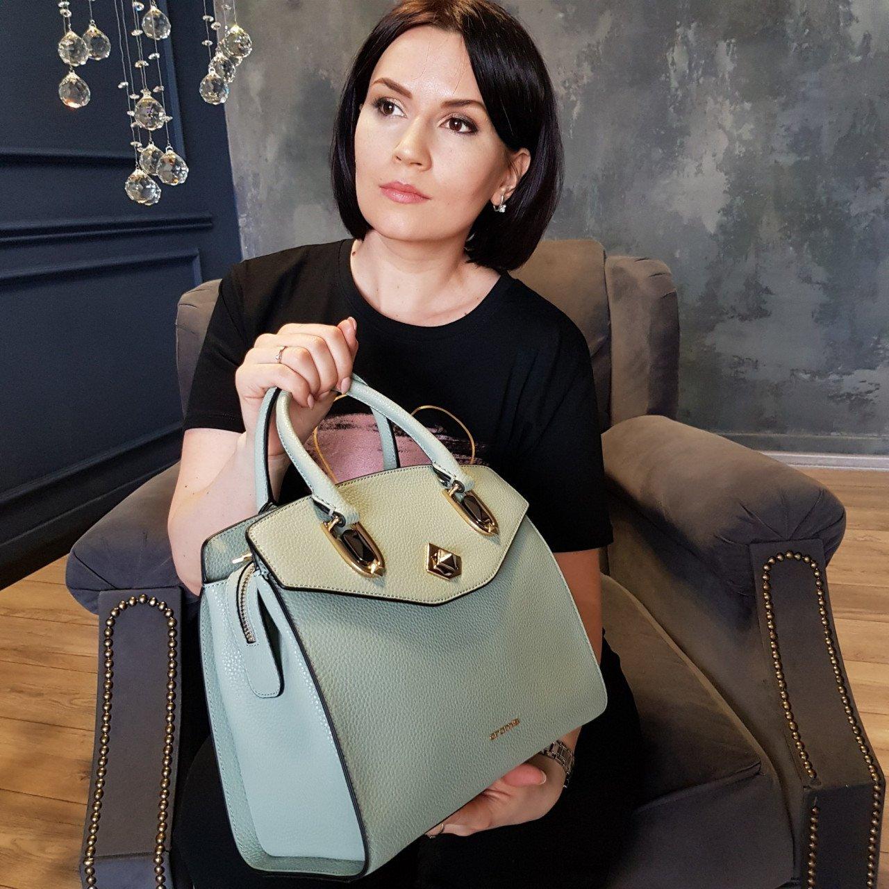 Женская кожаная сумка Cromia 1404838 SALVIA из натуральной кожи