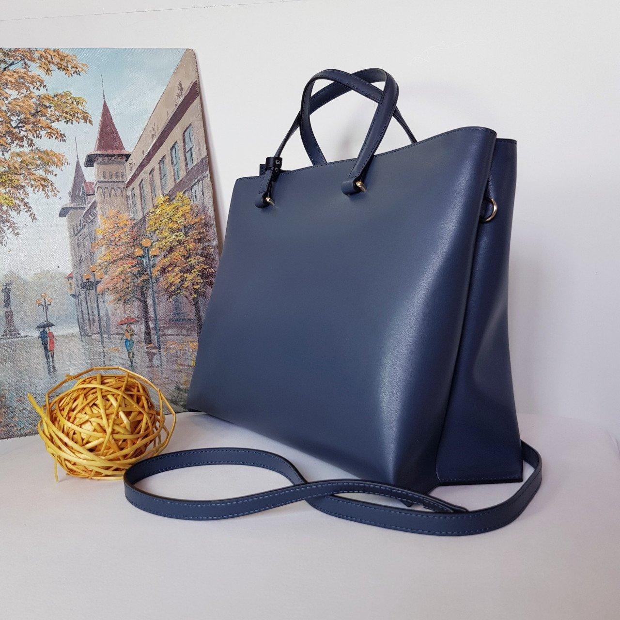 Женская кожаная сумка Cromia 1404868 BLU из натуральной кожи