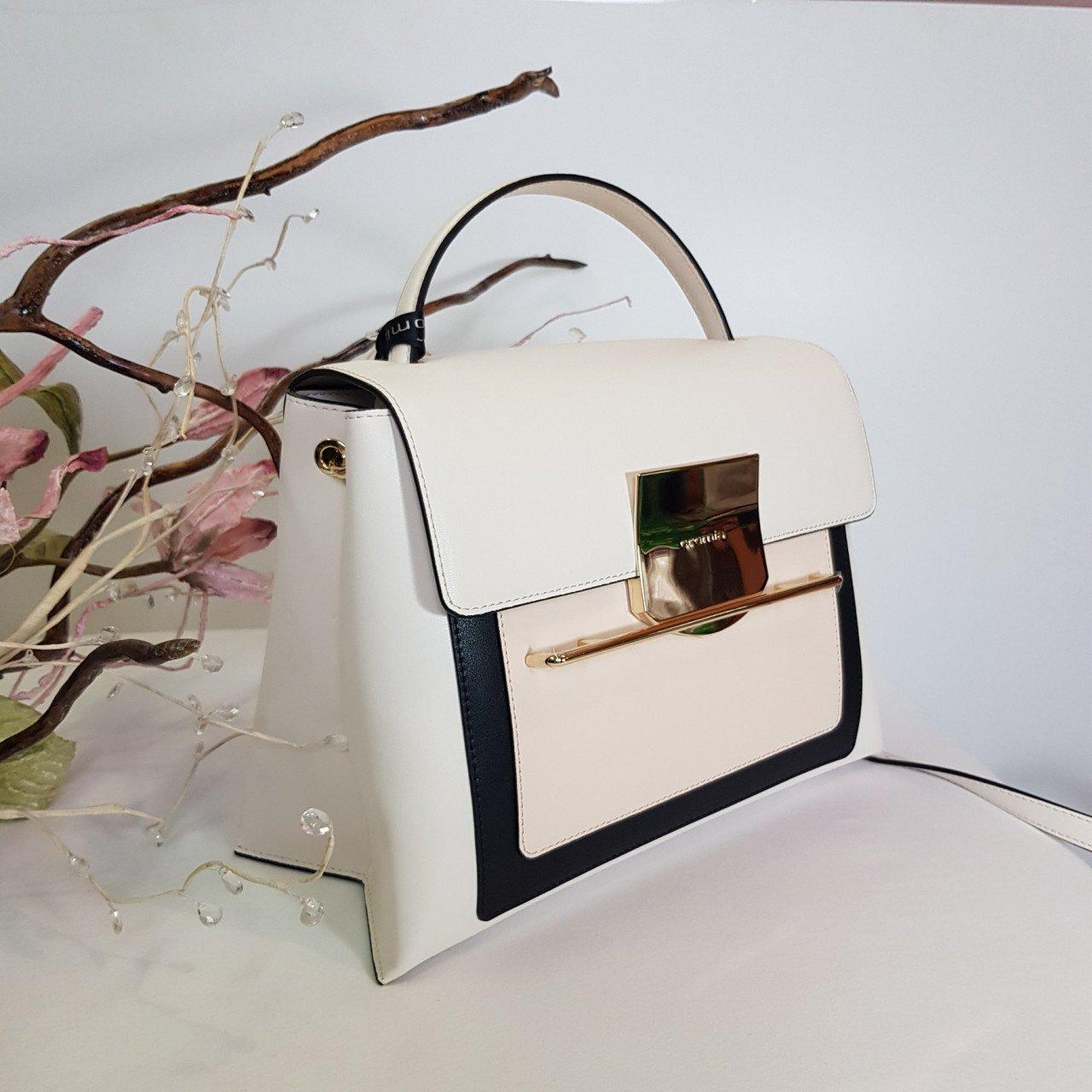Женская кожаная сумка Cromia 1404869 AVORIO из натуральной кожи